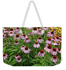 Field Of Echinacea Weekender Tote Bag
