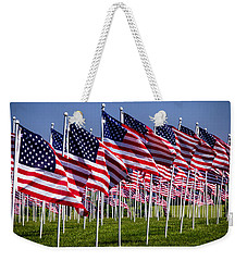 Field Of Flags For Heroes Weekender Tote Bag