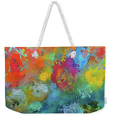 Field Of Flowers. Painting. Weekender Tote Bag