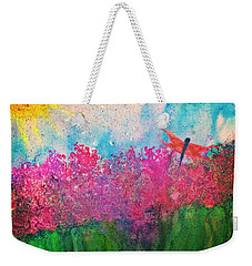 Field Of Flowers W Firefly Weekender Tote Bag