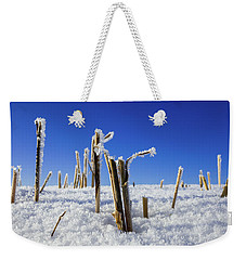 Field Of Frosty Straws Weekender Tote Bag