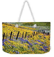 Field Of Gold And Purple Weekender Tote Bag