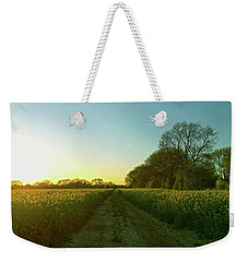 Weekender Tote Bag featuring the photograph Field Of Gold by Anne Kotan