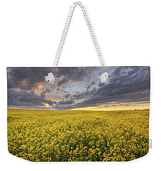Weekender Tote Bag featuring the photograph Field Of Gold by Dan Jurak