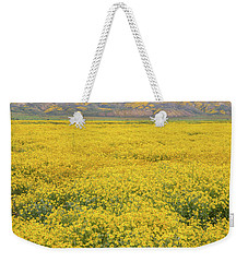 Weekender Tote Bag featuring the photograph Field Of Goldfields by Marc Crumpler