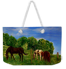Field Of Horses' Dreams Weekender Tote Bag by Kimberlee Baxter