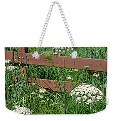 Weekender Tote Bag featuring the photograph Field Of Lace by Ann Horn