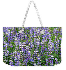 Field Of Lupine Flowers Weekender Tote Bag by John  Mitchell