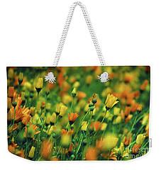 Field Of Orange And Yellow Daisies Weekender Tote Bag