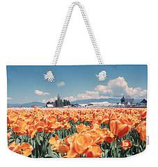Field Of Orange Weekender Tote Bag