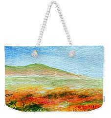 Weekender Tote Bag featuring the painting Field Of Poppies by Jamie Frier