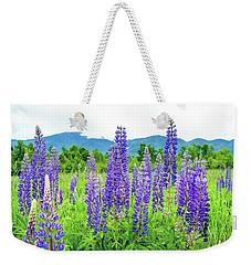 Weekender Tote Bag featuring the photograph Field Of Purple by Greg Fortier