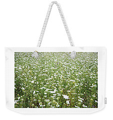 Field Of Queen Annes Lace Weekender Tote Bag