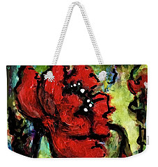 Weekender Tote Bag featuring the painting Field Poppy by Rae Chichilnitsky