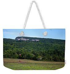 Weekender Tote Bag featuring the photograph Field With A View by Jeff Severson
