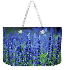 Weekender Tote Bag featuring the photograph Fields Of Blue by Rowana Ray