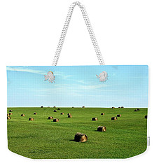 Fields Of Green Weekender Tote Bag by Mark Mickelsen