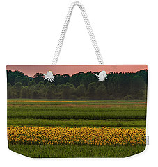 Fields Of Sunflowers Weekender Tote Bag by Garry McMichael