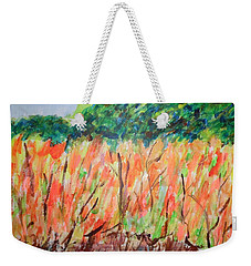 Fiery Bushes Weekender Tote Bag by Esther Newman-Cohen