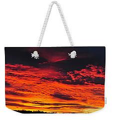 Fiery Close Of Day Weekender Tote Bag