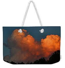 Fiery Cumulus Weekender Tote Bag by Kathryn Meyer