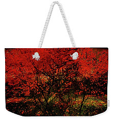 Weekender Tote Bag featuring the photograph Fiery Dance by Mimulux patricia no No