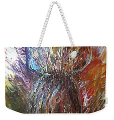 Fiery Earth Latte Stone Weekender Tote Bag