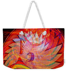 Weekender Tote Bag featuring the photograph Fiery Ferris Wheel by David Lee Thompson