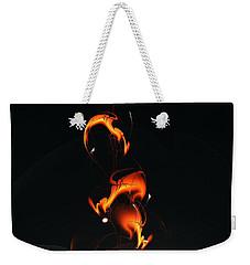 Weekender Tote Bag featuring the digital art Fiery Flower by Anastasiya Malakhova