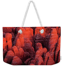 Weekender Tote Bag featuring the photograph Fiery Furnace by Dustin LeFevre