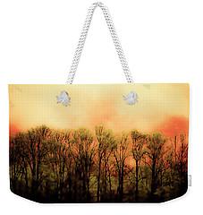 Fiery Green Weekender Tote Bag