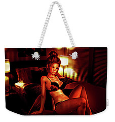 Fiery Nights Weekender Tote Bag