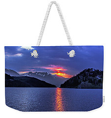 Fiery Sunset At Summit Cove Weekender Tote Bag