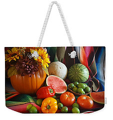Weekender Tote Bag featuring the painting Fiesta Fall Harvest by Marilyn Smith