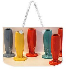 Fiestaware Bud Vases Weekender Tote Bag