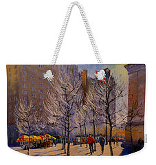 Fifth Avenue - Late Winter At The Met Weekender Tote Bag