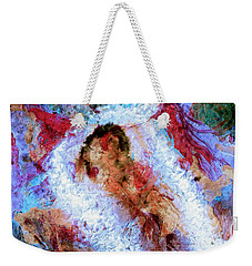 Weekender Tote Bag featuring the painting Fifth Bardo by Dominic Piperata