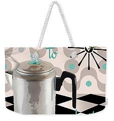 Fifties Kitchen Coffee Pot Perk Coffee Weekender Tote Bag