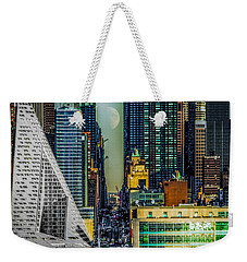 Weekender Tote Bag featuring the photograph Fifty-seventh Street Fantasy by Chris Lord