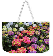 Fifty Shades Of Hydrangea Weekender Tote Bag by Lingfai Leung