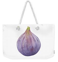 Fig Watercolor Weekender Tote Bag by Taylan Apukovska