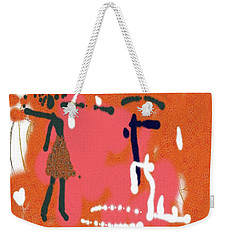 Weekender Tote Bag featuring the digital art Fight by Sladjana Lazarevic