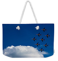 Fighter Jet Weekender Tote Bag by Martin Newman