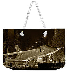 Fighter Plane By Night Weekender Tote Bag