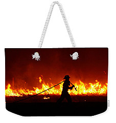 Fighting The Fire Weekender Tote Bag by Linda Unger