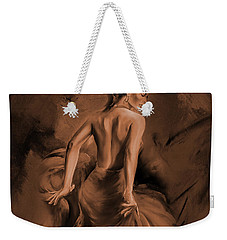 Weekender Tote Bag featuring the painting Figurative Art 007dc by Gull G