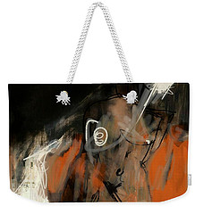 Weekender Tote Bag featuring the digital art Figure Abstract -  17sept2017 by Jim Vance