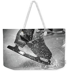 Weekender Tote Bag featuring the photograph Figure Skating Abstract by Rona Black
