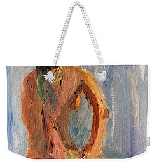 Weekender Tote Bag featuring the painting Figure Study 1 by Michael Helfen
