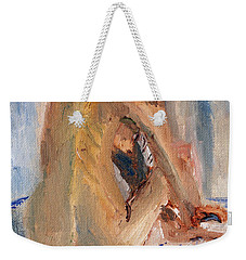 Weekender Tote Bag featuring the painting Figure Study 2 by Michael Helfen